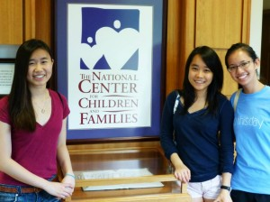 Pictured, from left to right: Heather Chen, Alice Zhou, Nina Dinh